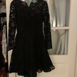 ABS lace dress skater style hi lo